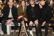 (L-R) Conor Kennedy, Danielle Bernstein, Andrew Warren and Jackson Krecioch attend the Taoray Wang front row during New York Fashion Week: The Shows at Gallery II at Spring Studios on February 9, 2019 in New York City.