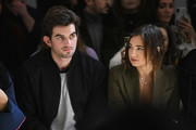 Conor Kennedy and Danielle Bernstein attend the Taoray Wang front row during New York Fashion Week: The Shows at Gallery II at Spring Studios on February 9, 2019 in New York City.