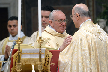 Tarcisio Bertone Pope Francis I First Day As New Pontiff