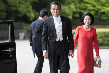 Taro Aso Japan Emperor Akihito's Abdication