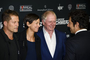 Til Schweiger, Marlene Shirley, Wolfgang Petersen and Fahri Yardim attend the 'Tatort - Der Grosse Schmerz' premiere in Berlin at Kino Babylon on December 16, 2015 in Berlin, Germany.