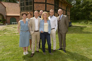 Bibiana Beglau,Tatja Seibt, Heino Ferch, Marco Dierlich, Maria Furtwaengler, Sebastian Weber and Robert Doelle attend photocall of 'Tatort - Der gute Hirte' at Gut Holm on August 6, 2014 in Buchholz, Germany.
