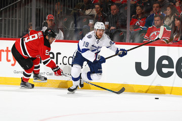 Taylor Hall Tampa Bay Lightning v New Jersey Devils