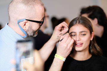 Taylor Hill Michael Kors Collection Fall 2017 Runway Show - Backstage
