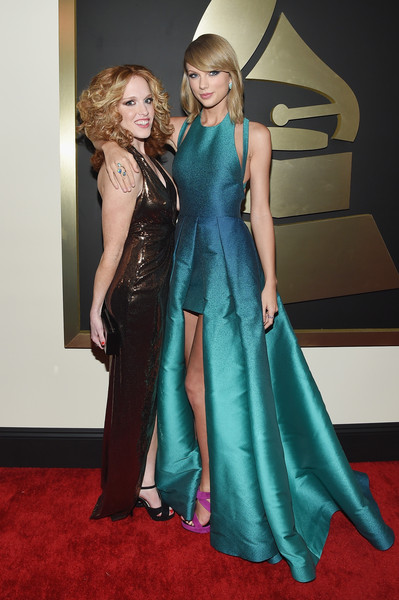 The 57th Annual GRAMMY Awards - Red Carpet [red carpet,clothing,carpet,red carpet,fashion model,dress,fashion,gown,haute couture,shoulder,flooring,taylor swift,abigail anderson,california,los angeles,staples center,57th annual grammy awards,the 57th annual grammy awards]