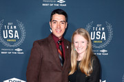 (L-R) Chris Murphy and Kelly Casebere attend the 2017 Team USA Awards on November 29, 2017 in Westwood, California.