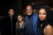 Kenny Leon (2nd from right), Susan Kelechi Watson (right) and guests attend Ted's 2020 NAACP Nominees Toast at Hinoki & The Bird on February 20, 2020 in Los Angeles, California.