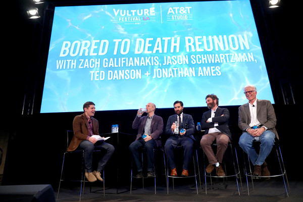 Ted Danson Jason Schwartzman Zach Galifianakis Jonathan Ames Lane Brown Ted Danson And Zach Galifianakis Photos Vulture Festival La Presented By At T Day 2 Zimbio