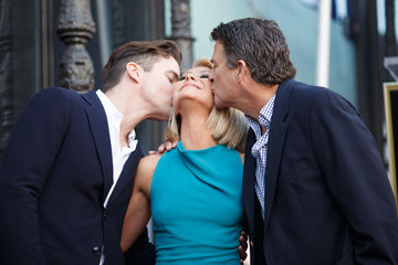 Ted McGinley Kelly Ripa Honored With Star on the Hollywood Walk of Fame