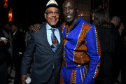 Giancarlo Esposito and Michael K. Williams attend Ted Sarandos' 2019 Annual Netflix Emmy Nominee Toast at a private residence on September 20, 2019 in Los Angeles, California.