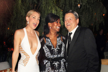 Ted Sarandos Nicole Avant The Weinstein Company and Netflix Golden Globes Party