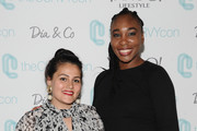 [Editor's Note: image has been retouched] Nadia Boujarwah and Venus Williams attend the #TeeUpChange Campaign Launch Hosted By Dia&Co and CFDA at theCURVYcon on September 7, 2018 in New York City.