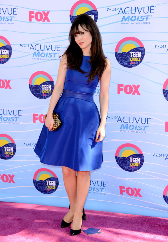 Zooey+Deschanel in Teen Choice Awards 2012 - Arrivals
