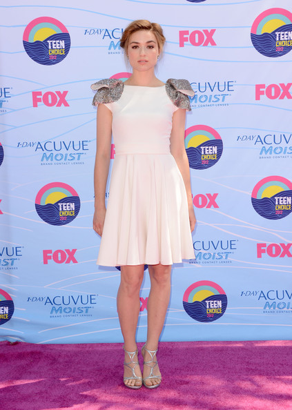 Actress Crystal Reed arrives at the 2012 Teen Choice Awards at Gibson Amphitheatre on July 22, 2012 in Universal City, California.