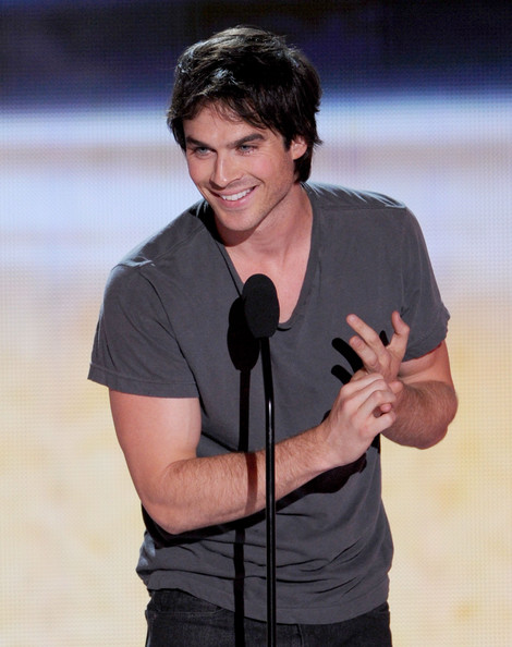 Actor Ian Somerhalder accepts the Choice Male Hottie award onstage during the 2012 Teen Choice Awards at Gibson Amphitheatre on July 22, 2012 in Universal City, California.