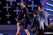 (L-R) Actors Shailene Woodley, Ansel Elgort, and Nat Wolff onstage during FOX's 2014 Teen Choice Awards at The Shrine Auditorium on August 10, 2014 in Los Angeles, California.