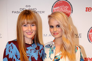 Editor-in-chief of Teen Vogue Amy Astley (L) and host Debby Ryan attend Teen Vogue's Back To School Saturdays Kick-Off at Del Amo Fashion Center on August 8, 2014 in Torrance, California.