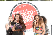 (L-R) Perrie Edwards, Jesy Nelson, Jade Thirlwall, and Leigh-Anne Pinnock of Little Mix perform onstage at Teen Vogue's Back-to-School Saturday kick-off event at The Grove on August 9, 2013 in Los Angeles, California.