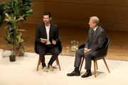 Billy Eichner and former Vice President of the United States Al Gore speak onstage during Teen Vogue Summit 2018: #TurnUp - Day 2 at The New School on June 2, 2018 in New York City.