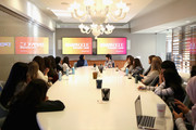 Ibtihaj Muhammad (center-L) and Lucy Diavolo (center-R) speak during the Instant Influence: Breaking Storytelling Barriers conversation at The Teen Vogue Summit 2018: Serena Williams and Naomi Wadler at 72andSunny on December 1, 2018 in Los Angeles, California.