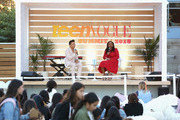 Prabal Gurung (L) and Teen Vogue Editor in Chief Lindsay Peoples Wagner speak onstage during their panel at The Teen Vogue Summit 2018: Serena Williams and Naomi Wadler at 72andSunny on December 1, 2018 in Los Angeles, California.