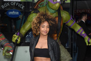 "Jade Avia arrives for the gala screening of ""Teenage Mutant Ninja Turtles: Out Of The Shadows"" at Vue West End on May 29, 2016 in London, England."