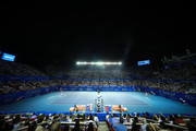 A general view of Mextenis Stadium during the singles match between Rafael Nadal of Spain and Taylor Fritz of the United States on Day 6 of the ATP Mexican Open at Princess Mundo Imperial on February 29, 2020 in Acapulco, Mexico.
