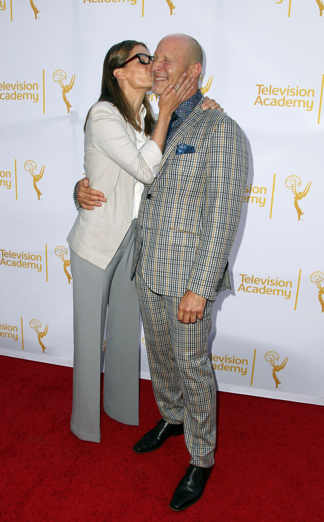 <em>Castle</em> actress Stana Katic and the show's costume designer Luke Reichie attend the event on July 19, 2014.