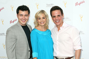 (L-R)  Actor Christopher Sean, actress Jessica Collins, and actor Christian LeBlanc attend the Television Academy's Performers Peer Group Hold Cocktail Reception to Celebrate the 67th Emmy Awards at the Montage Beverly Hills Hotel on August 24, 2015 in Beverly Hills, California.