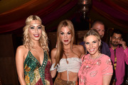Verena Kerth, Tanja La Croix and Alessandra Geissel during 'Temple of Sun' the P1 summer party at P1 on July 17, 2018 in Munich, Germany.