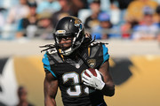 Chris Ivory #33 of the Jacksonville Jaguars rushes during the first half of the game against the Tennessee Titans at EverBank Field on December 24, 2016 in Jacksonville, Florida.