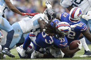 Running back Chris Ivory #33 of the Buffalo Bills carries the ball against the Tennessee Titans in the third quarter at New Era Field on October 7, 2018 in Buffalo, New York.
