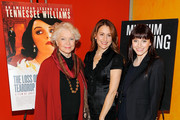 Actress Ellen Burstyn, director Jodie Markell and actress Bryce Dallas Howard attend the ''Tennessee Williams on Screen and Stage'' panel discussion at The Times Center on December 9, 2009 in New York City.