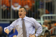 Head coach Bllly Donovan of the Florida Gators instructs his team during game against the Tennessee Volunteers during the first half at Stephen C. O'Connell Center on January 25, 2014 in Gainesville, Florida.