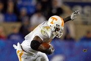 Montario Hardesty #2  of the Tennessee Volunteers runs with the ball during the SEC game against the Kentucky Wildcats at Commonwealth Stadium on November 28, 2009 in Lexington, Kentucky.