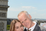 Actress Emilia Clarke and Director Alan Taylor pose during the France Photocall of 'Terminator Genisys' at the Publicis Champs Elysees on June 19, 2015 in Paris, France.