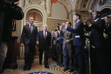 Terrance Gainer Barack Obama Meets With Senate and House Members