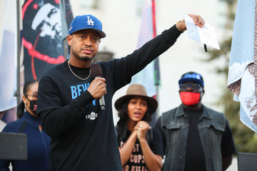 Terrence J BLD PWR And Black Lives Matter Los Angeles Host Final March To The Polls In Downtown Los Angeles