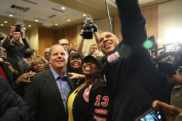Terri Sewell Democratic Senate Candidate Doug Jones Holds Campaign With Sen. Cory Booker at Alabama State University