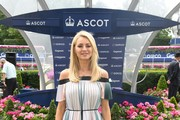 Tess Daly attends Ascot Racecourse's Summer Mile Family Raceday for the launch of Great British Racing's 'Under 18's Race Free' Campaign at Ascot Racecourse on July 13, 2019 in Ascot, England.