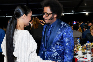 Tessa Thompson Boots Riley FIJI Water At The 2019 Film Independent Spirit Awards