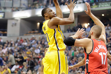 Thaddeus Young Toronto Raptors v Indiana Pacers