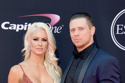 Pro wrestlers Maryse Ouellet and Michael Mizanin (aka The Miz) attend The 2017 ESPYS at Microsoft Theater on July 12, 2017 in Los Angeles, California.
