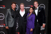 (L-R) Patrick Mahomes, Eric Dane, Lilly Singh, and Jared Goff attend The 2019 ESPYs at Microsoft Theater on July 10, 2019 in Los Angeles, California.