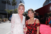 Mikaela Shiffrin and Chloe Kim attend The 2019 ESPYs at Microsoft Theater on July 10, 2019 in Los Angeles, California.