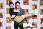 """Noah Galvin and Erich Bergen attend """"The 24 Hour Musicals"""" at The Irene Diamond Stage, Pershing Square Signature Center on June 17, 2019 in New York City."""