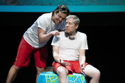 """Alex Moffat and Anthony Rapp perform during """"The 24 Hour Musicals"""" at The Irene Diamond Stage, Pershing Square Signature Center on June 17, 2019 in New York City."""