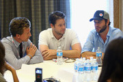 """(L-R) Actors Josh Meyers, Ike Barinholtz and Taran Killam attend """"The Awesomes"""" Comic-Con panel at Hilton Bayfront on July 20, 2013 in San Diego, California."""