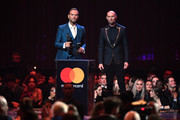 Matt Goss and Luke Goss present the British Artist Video Of The Year award during The BRIT Awards 2019 held at The O2 Arena on February 20, 2019 in London, England.