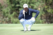 Justin Thomas of United States looks over a green on the 6th hole during the first round of the CJ Cup at the Nine Bridges on October 18, 2018 in Jeju, South Korea.